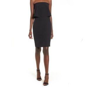 Socialite Black Strapless Dress NWT